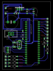 Eagle-Layout vom Controller Board