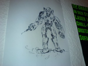 Eingescannt, vektorisiert, geplottet, an die Wand gepinnt. Hat ein paar Macken aber sieht schon beeindruckend aus.