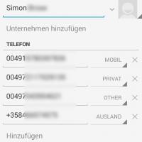 Auch Kontakte können synchronisiert werden