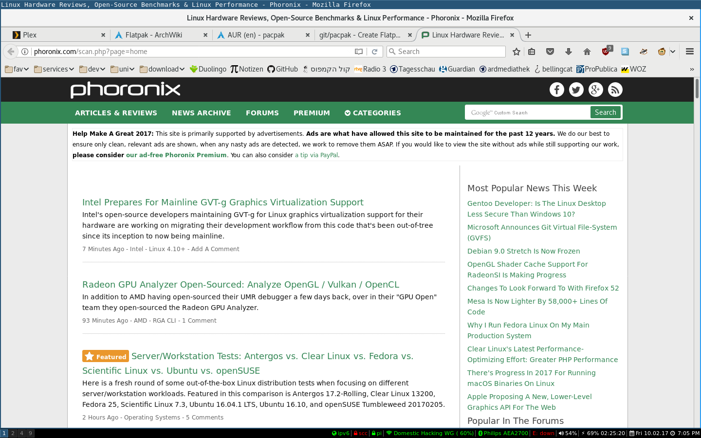Try out Firefox on Wayland easily – project-insanity org